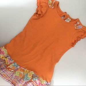 Gymboree girls tunic top with ruffles